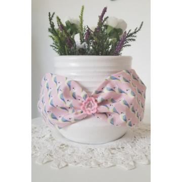 Headband Perroquets fleurs